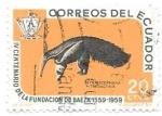 Sellos del Mundo : America : Ecuador :  oso hormiguero