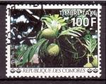 Stamps Comoros -  serie- Frutas y flores