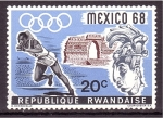 Stamps Rwanda -  MEXICO'68