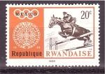 Sellos de Africa - Rwanda -  serie- Juegos Olimpicos