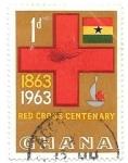Sellos de Africa - Ghana -  cruz roja