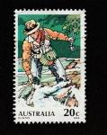 Stamps : Oceania : Australia :  Pescador