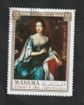 Stamps : Asia : United_Arab_Emirates :  Manama  - 80 - Mary II, Reina de Inglatera