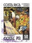 Sellos de America - Costa Rica -  artesanía