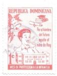 Sellos de America - Rep Dominicana -  ayuda infancia