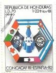 Sellos de America - Honduras -   Concacaf81-España 82