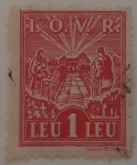 Stamps : Europe : Romania :  Rising Sun over Hospital