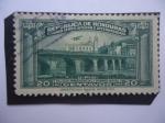 Stamps Honduras -  Palacio Presidencial y Puente Mayol (1935-1938) - U.P.U.
