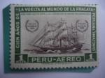 Sellos de America - Perú -  Cien Años de la vuelta al mundo de la Fragata Peruana