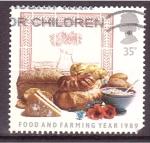 Sellos de Europa - Reino Unido -  Año de la alimentación de granja