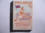 Sellos del Mundo : America : Rep_Dominicana : Lord Burghley, Inglaterra - Oro Olímpico en 1928.Juegos Olímpicos en Amsterdam.