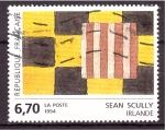 Sellos de Europa - Francia -  Pintado por Sean Scully