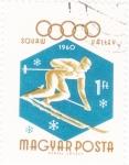 Stamps Hungary -  Juegos Olímpicos de Squaw Valley 1960
