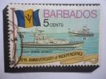 Sellos del Mundo : America : Barbados : Buques de Guardacostas - 10° Aniversario de la Independencia