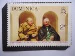 Sellos del Mundo : America : Dominica : Centenario del Nacimiento Sir Wiston S. Churchill-Winston Leonard Spancer Churchill (1874-1965) y Fr