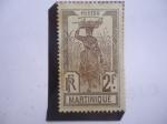 Sellos del Mundo : Europa : Francia : Vendedora de Frutas - Colonias y Territorios franceses- Martinica.