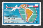 Stamps : America : Cuba :  C249 - I Aniversario de la Inauguración de la Líneas Aéreas La Habana-Santiago de Chile