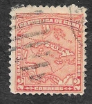 Stamps Cuba -  254 - Mapa de Cuba