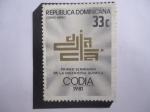 Sellos del Mundo : America : Rep_Dominicana : Primer Seminario de la Ingeniería Quimica - Emblema del Seminario.