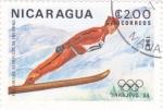 Sellos de America - Nicaragua -  OLIMPIADA SARAJEVO´84