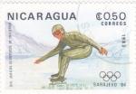 Stamps : America : Nicaragua :  OLIMPIADA SARAJEVO´84