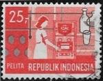 Sellos del Mundo : Asia : Indonesia : V años del Plan de Desarrollo - Investigación Científica