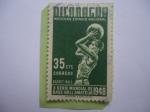 Sellos de America - Nicaragua -  Basket-Ball - X Serie Mundial de Base-Ball Amateur 1948 - Moderno Estadio Nacional