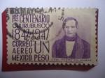 Stamps Mexico -  General Pedro María Anaya (1795-1854) - 1er. Centenario Churubusco (1847-1947) - 1er. Centenario de
