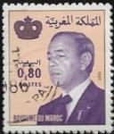 Sellos del Mundo : Africa : Marruecos : Rey Hassan II  1981  0,80 dirham