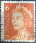 Stamps Australia -  Scott#401A , intercambio 0,20 usd, 6 cents. , 1970