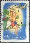 Stamps Australia -  Scott#2098 , intercambio 0,75 usd. 45 cents. , 2002