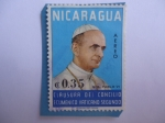 sellos de America - Nicaragua -  S.S Pablo VI - Clausura del Concilio Ecunemico Vaticano Segundo.