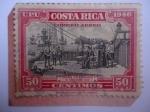 Stamps Costa Rica -  Colón en cariari, 18 de Sep. 1502 - UPU - Descubridores - serie:Colón.
