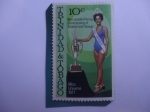 Sellos de America - Trinidad y Tobago -  Miss Janelle (Penny) Commissiong -Primera Miss de Trinidad y Tabago - Serie: Miss Universe 1977