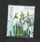Sellos del Mundo : Europa : Letonia : 980 - Flores