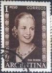 Sellos de America - Argentina -  Scott#611 , intercambio 0,20 usd. 1 peso , 1959