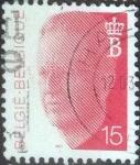 Stamps Belgium -  Scott#1365 , intercambio 0,20 usd. 15 fr. , 1990
