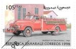 Sellos de Africa - Marruecos -  coches antiguos