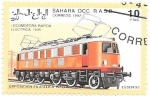 Stamps : Africa : Morocco :  trenes