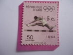 Stamps : America : Haiti :  Carreras de Vallas - Serie: Juegos Olímpicos 1964 - Tokio.
