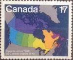 sello : America : Canadá : Scott#893 , intercambio 0,20 usd , 17 cents. , 1981