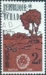 Stamps : Africa : Chad :  Scott#72 , intercambio 0,20 usd. , 2 fr. , 1962