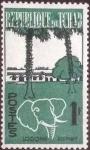 Stamps : Africa : Chad :  Scott#71 , intercambio 0,20 usd. , 1 fr. , 1962