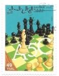 Sellos de Africa - Marruecos -  ajedrez