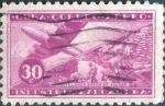 Sellos de America - Cuba -  Scott#C102 , intercambio 0,95 usd. , 30 cents. , 1954
