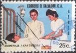 Sellos del Mundo : America : El_Salvador : Scott#C364 , intercambio 0,20 usd. , 25 cents. , 1975