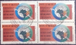 Sellos de America - Brasil -  Scott#2369x4 , intercambio 6,00 usd , 3000 cruzeiros x 4 , 1992