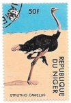 sello : Africa : Níger : avestruz