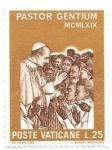 Sellos de Europa - Vaticano -  Pablo VI en África