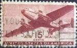 Stamps United States -  Scott#C28 , intercambio 0,35 usd , 15 cents. , 1941